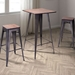 Tamir Contemporary Rustic Bar Table & Stools