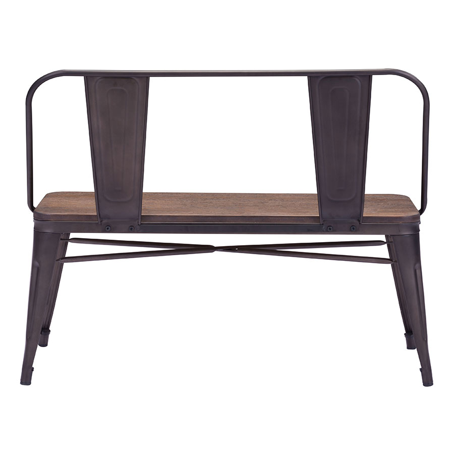 modern dining benches  tamir dining bench  eurway -  tamir modern dining bench back