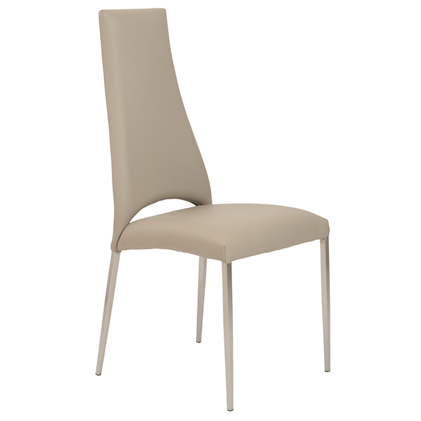 Taupe Letherette Kitchen Chairs Modern