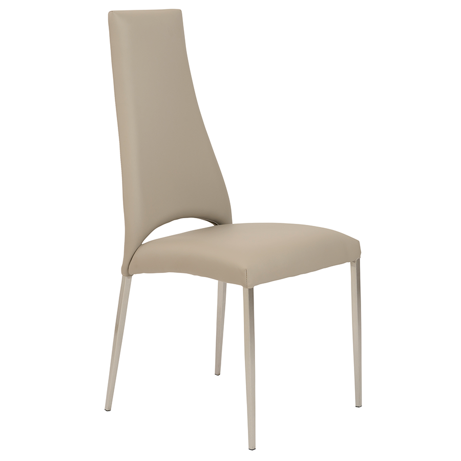 Exceptional Tara Taupe Modern Side Chair