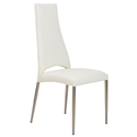 Thorpe White Modern Side Chair