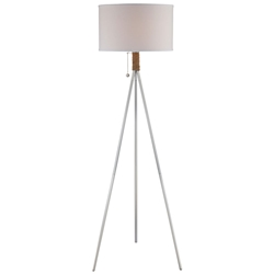 Tarot Satin Metal, Rope and Fabric Modern Floor Lamp