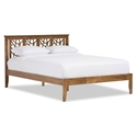 Tarrant Contemporary Walnut Platform Bed