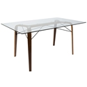 Tatum Modern Rectangular Walnut Dining Table