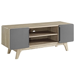 Taylor 47 in. Modern Natural + Gray TV Stand