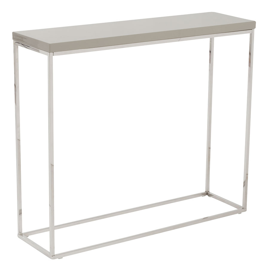 Ted Modern Taupe High Gloss Console Table