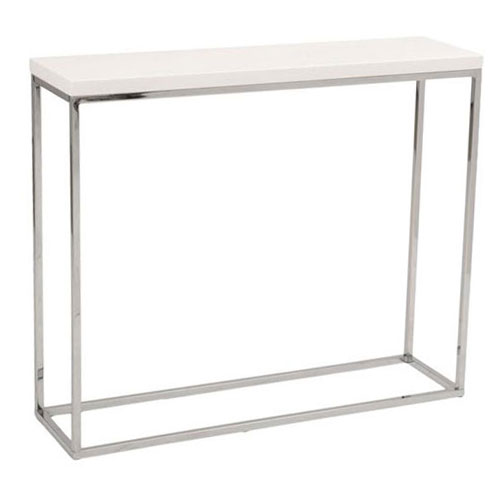 Ted Modern White High Gloss Console Table