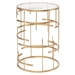 Temple Gold Metal + Clear Glass Top - Front