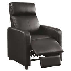 Tennyson Modern Black Recliner