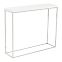 Teresa Modern White + Chrome Console Table by Euro Style