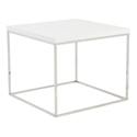 Teresa Contemporary White + Chrome End Table by Euro Style