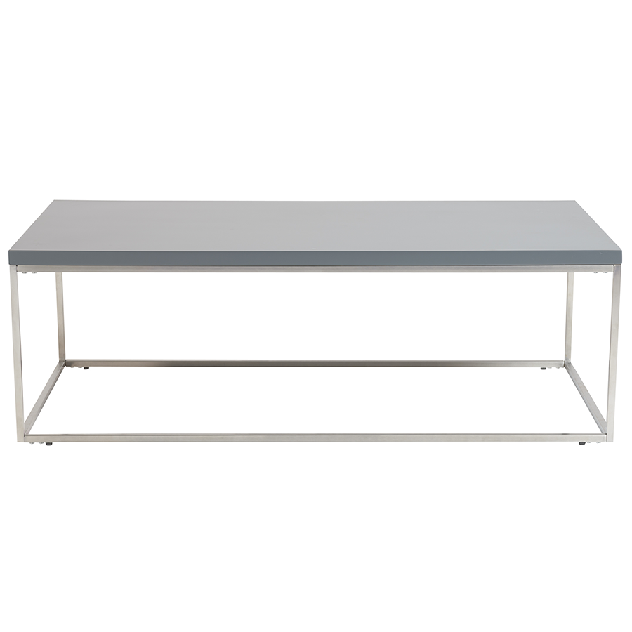 stainless steel modern furniture. Teresa Matte Gray Rectangle Modern Coffee Table; Contemporary Table Stainless Steel Furniture R