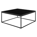 Teresa Modern Black Square Coffee Table by Euro Style