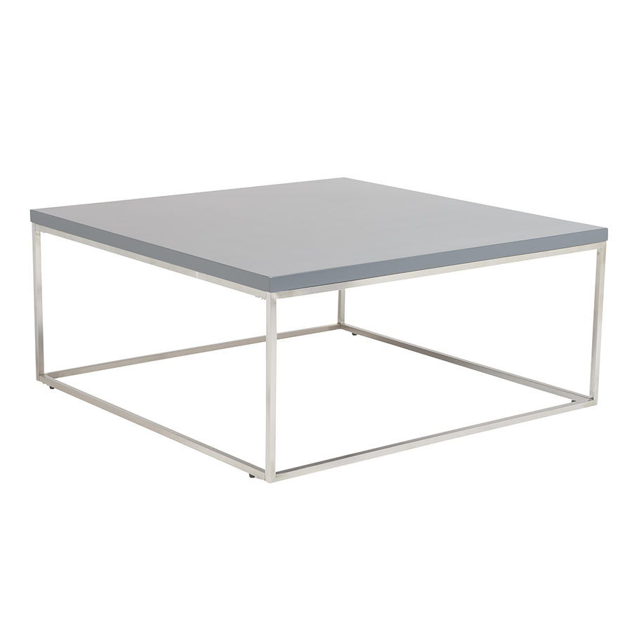 Call To Order · Teresa Matte Gray Square Modern Coffee Table