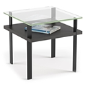 Terrace Modern End Table in Charcoal by BDI