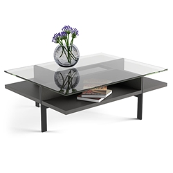 Terrace Modern Rectangular Charcoal Coffee Table by BDI