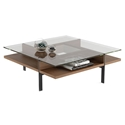 Terrace Contemporary Square Walnut Coffee Table by BDI