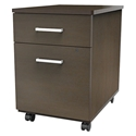 Terrance Modern Mocha-Colored File Cabinet