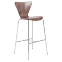 Terrell Modern Walnut Bar Stool