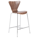 Terrell Modern Walnut Counter Stool