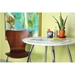 Terrell Walnut + Chrome Modern Professional Grade Dining Side Chair