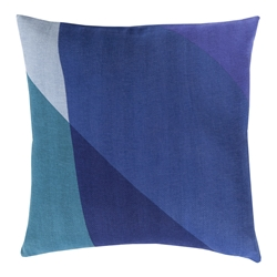 "Terry 20"" Blue Modern Pillow"