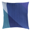 "Terry 22"" Blue Modern Pillow"