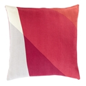 "Terry 22"" Red Modern Pillow"