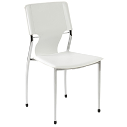Terry Modern White Stacking Side Chair by Euro Style