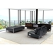 Terzo Black Faux Leather Modern Lounge Furniture Room Setting