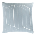 "Tess 20"" Denim Modern Pillow"