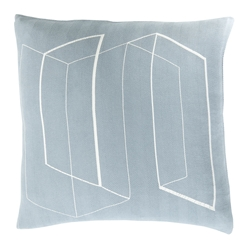 "Tess 22"" Denim Modern Pillow"