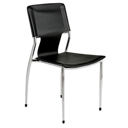 Terry Modern Stacking Side Chair in Black