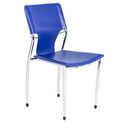 Terry Modern Stacking Side Chair in Blue