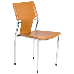 Terry Modern Stacking Side Chair in Cognac