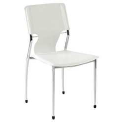 Terry Modern Stacking Side Chair in White