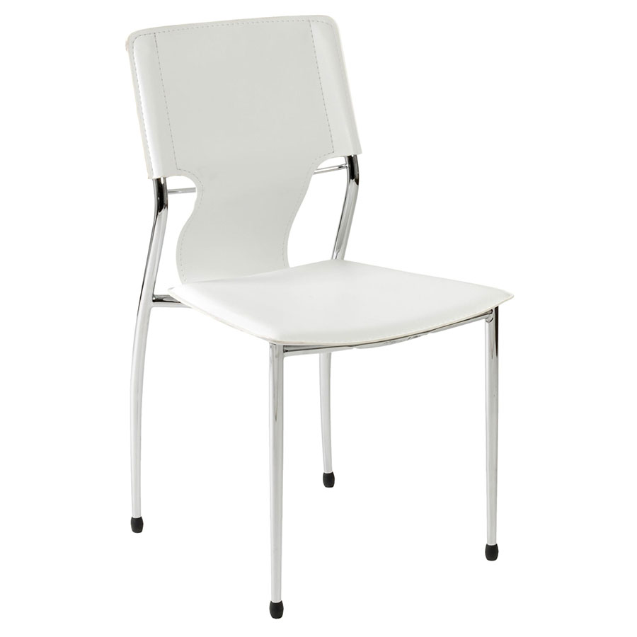 Testa Modern Stacking Side Chair in White