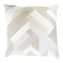 "Thad 18"" Cream Modern Pillow"