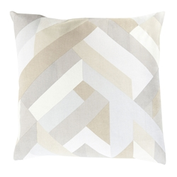 "Thad 20"" Cream Modern Pillow"