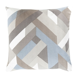 "Thad 22"" Gray Denim Modern Pillow"
