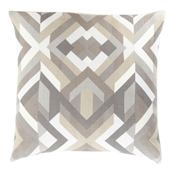 "Thelonius 18"" Khaki Modern Pillow"