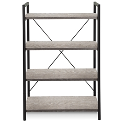 Thomas Modern Gray Washed Bookcase