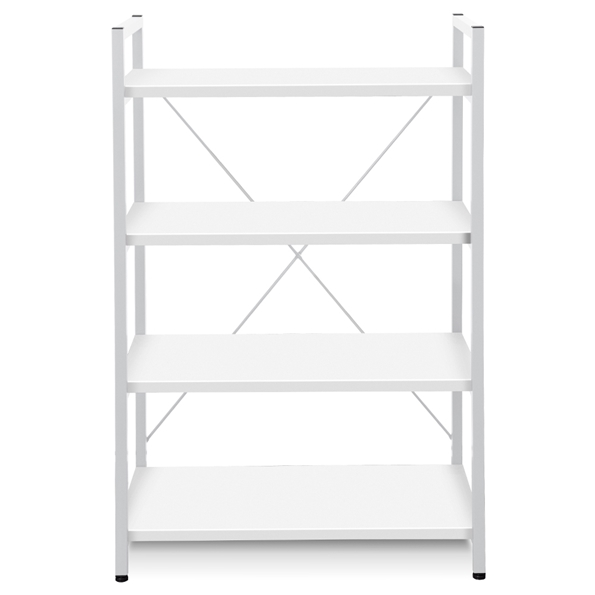Thomas Modern White Bookcase