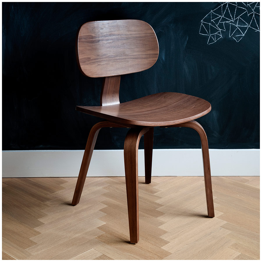 gus modern thompson chair se in walnut  eurway -  thompson se dining chair in walnut by gus modern