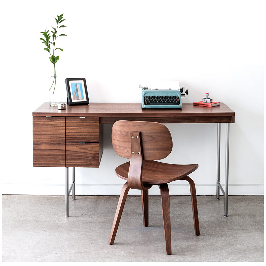 gus modern thompson chair se in walnut  eurway - thompson se contemporary chair by gus modern in walnut · thompsonmidcentury modern chair in walnut