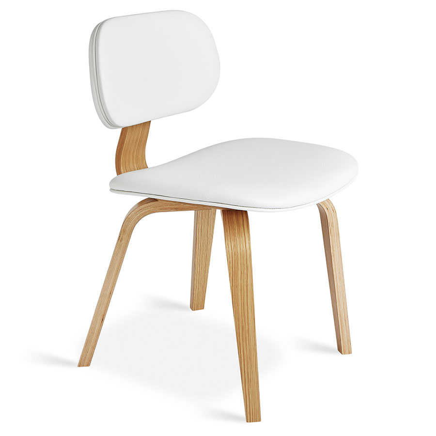 Call to Order · Gus* Modern Thompson Chair in White Vinyl Upholstery with Molded Oak Plywood Frame  sc 1 st  Eurway & Gus Modern Thompson Chair White Natural Oak | Eurway