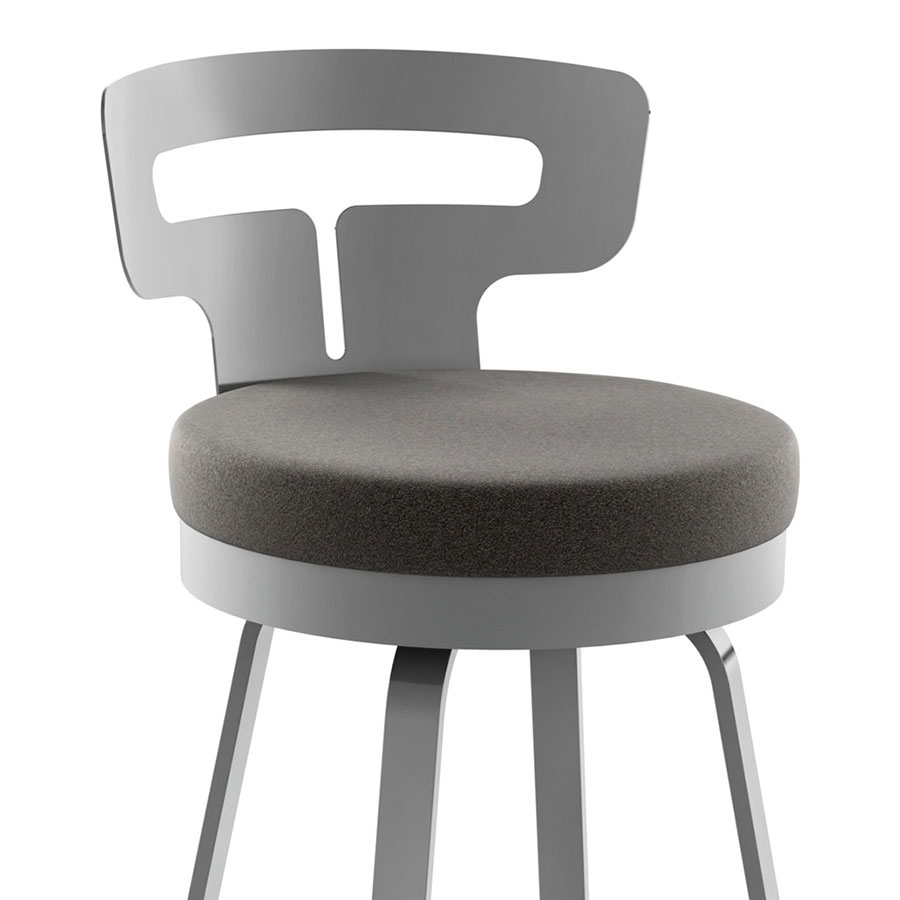 Tiago Modern Counter Stool - Fleece Fabric Detail