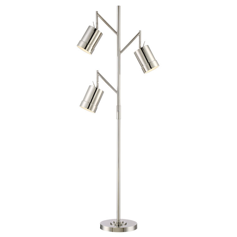 Tiara Chrome Modern Floor Lamp