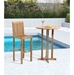 Tierra Contemporary Teak Outdoor Bar Table