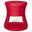 Tiki Red Outdoor Stool + Accent Table by Offi & Company